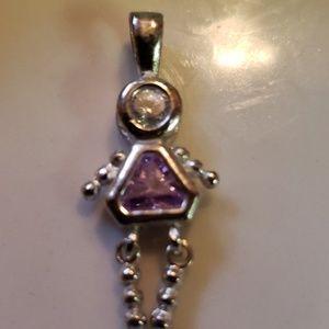 Jewelry - 90's Vintage Sterling silver June birthstone baby